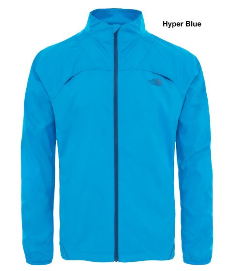 The North Face Mens Rapido Jacket - Water and Wind Resistant - Hyper Blue